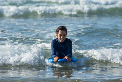 Bodyboard 100 bleu 1er prix technique enfant 6-12 ans 35_QUOTE_ + leash