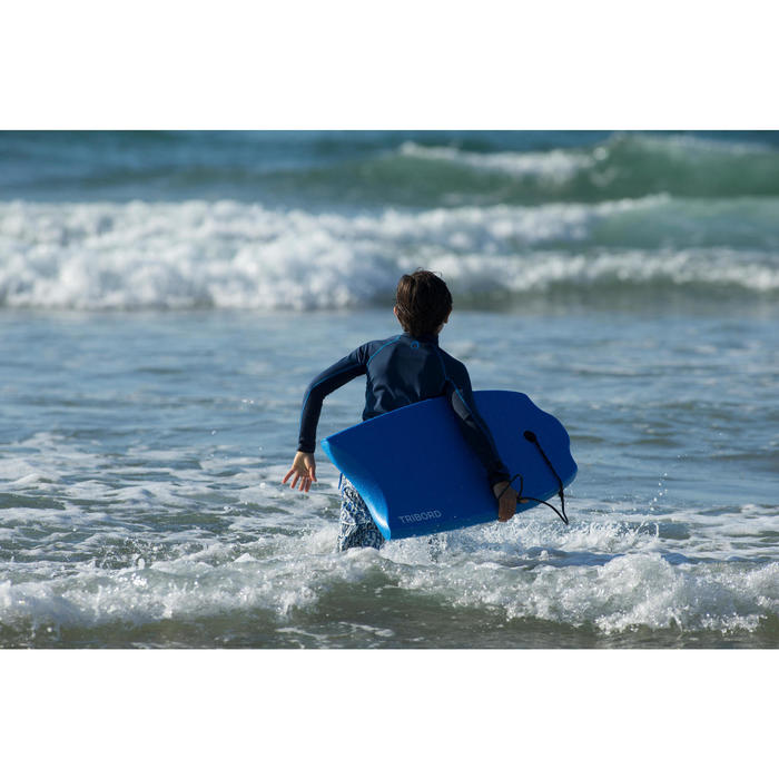 "Tabla Bodyboard Olaian 100 Azul Niño 35"" + leash"