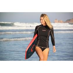 Camiseta anti-UV surf top 900 Térmico polar Manga larga Mujer Negro
