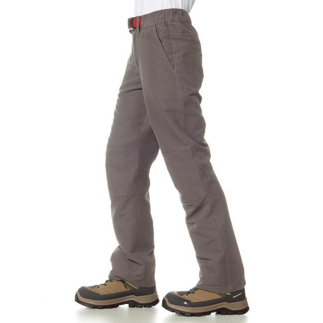 Hike 100 Boy's Hiking trousers Grey