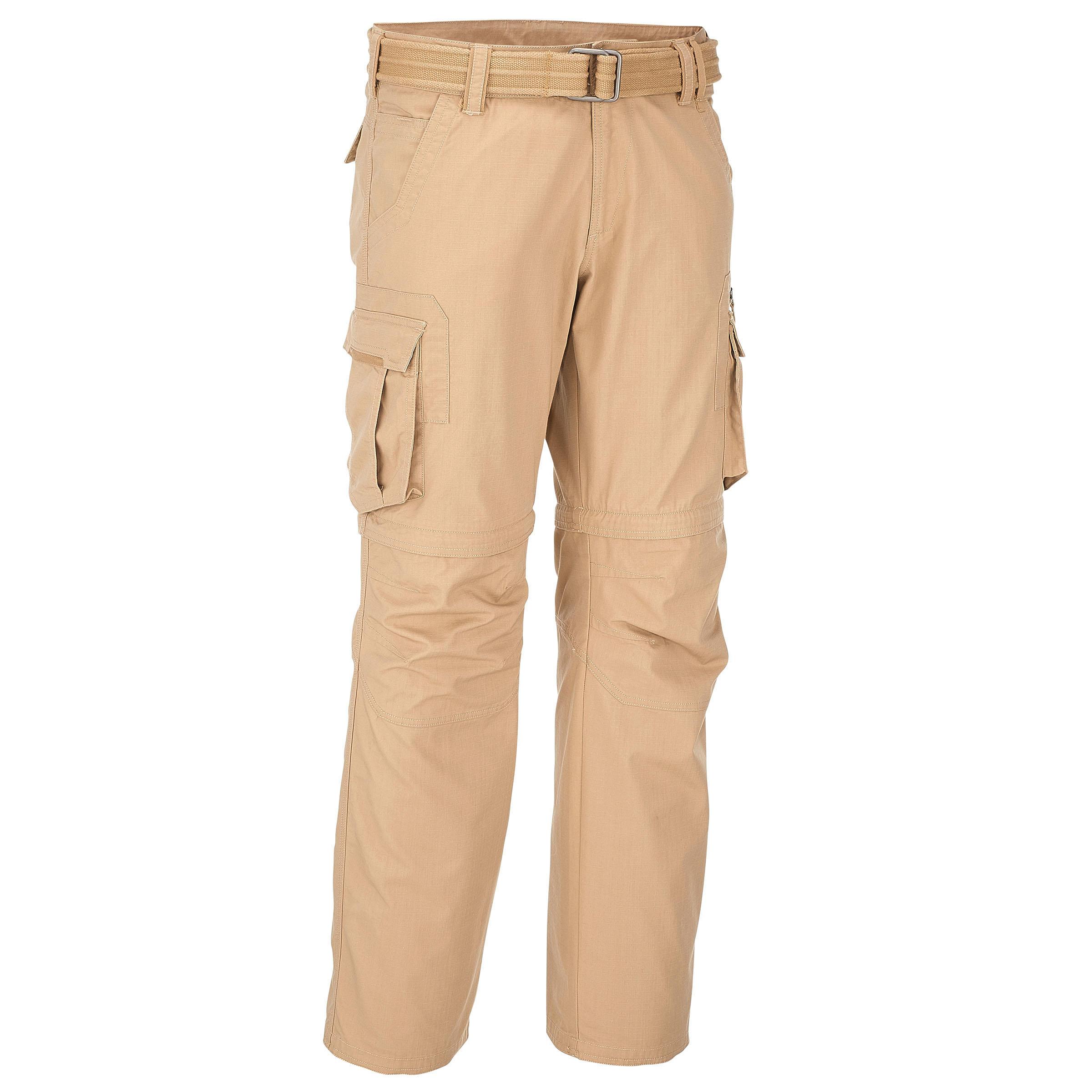 Men's Arpenaz 500 Modular Beige Trekking Pants