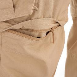 Pantalón transformable TRAVEL 100 HOMBRE BEIGE