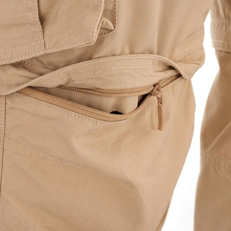 กางเกงขายาวแบบถอดขาได้สำหรับผู้ชายรุ่น Travel 100 (สีเบจ)