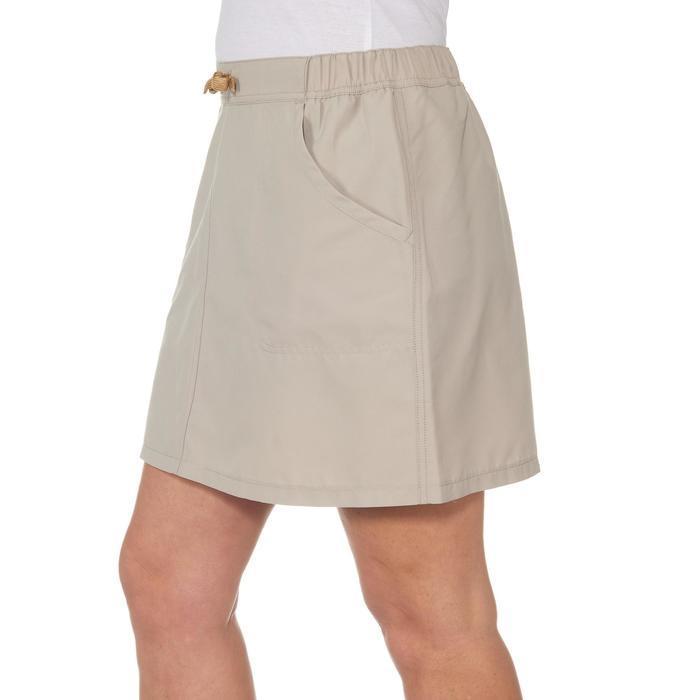 Falda-short senderismo en la naturaleza mujer NH100 beige