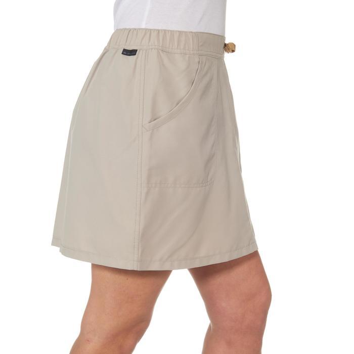 Jupe-short randonnée nature NH100 beige femme