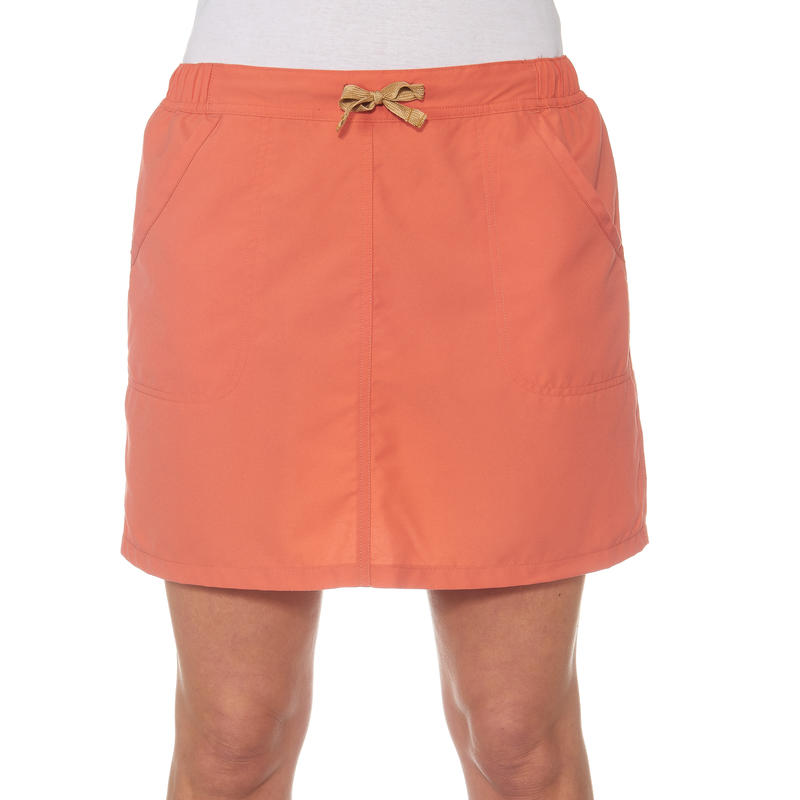 Jupe short randonnée nature femme Arpenaz 50 orange