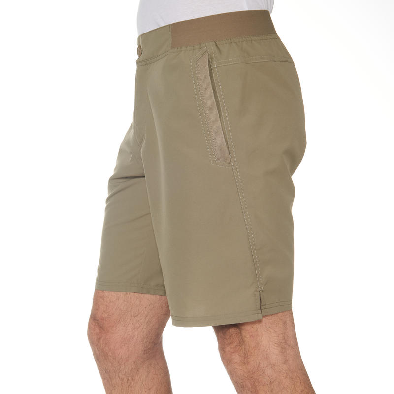 Pantalón corto de senderismo en la naturaleza hombre NH100 beige