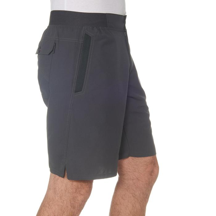 男款郊野健行短褲NH100-灰色