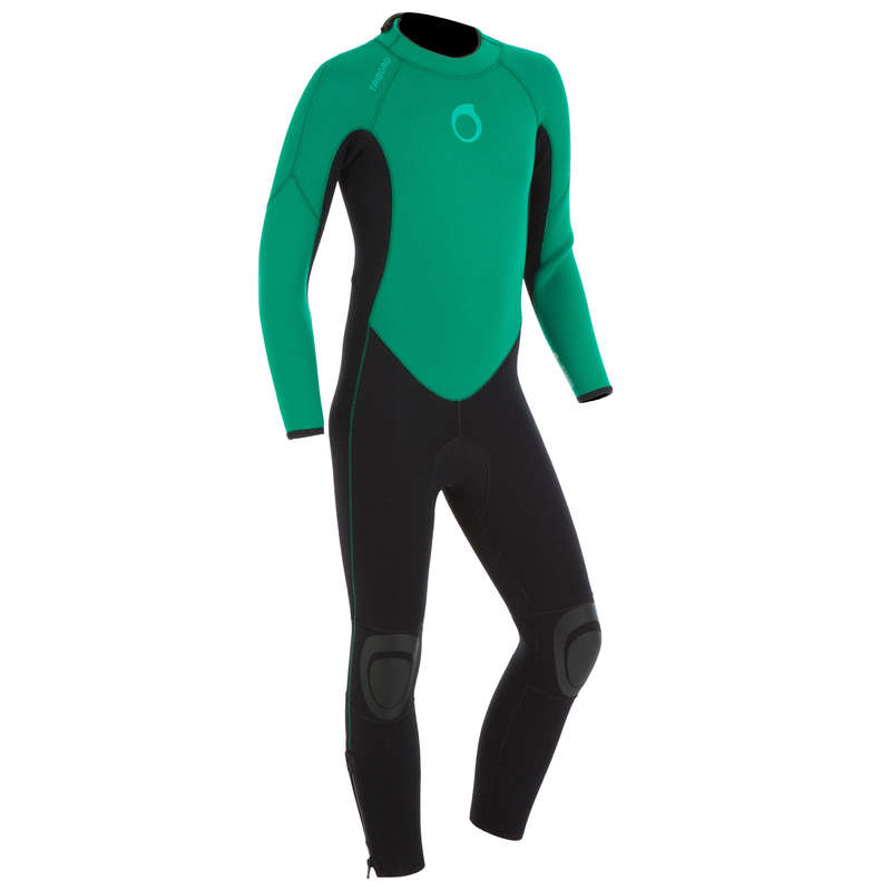 COLD WATER WETSUIT - SURF WETSUIT 100 Junior 4/3 mm  OLAIAN