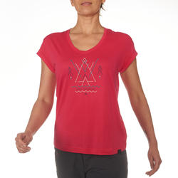 T-shirt korte mouwen trekking dames Arpenaz 100 - 711528