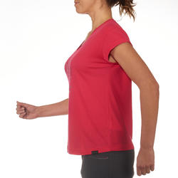 T-shirt korte mouwen trekking dames Arpenaz 100 - 711529