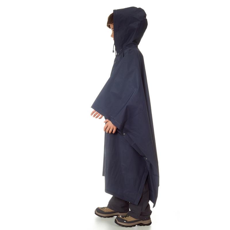 Junior Hiking Rain Poncho Arpenaz 10L - Blue