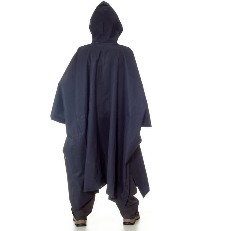 Kids' Hiking Rain Poncho - ARPENAZ 10 L - Blue