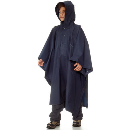 Arpenaz Child's Hiking and Mountain Trekking 10 Litre Poncho - Blue