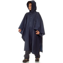 Impermeable poncho lluvia Arpenaz 10L Junior azul