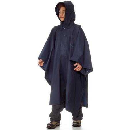Poncho pluie de randonnée ARPENAZ 10L bleu junior