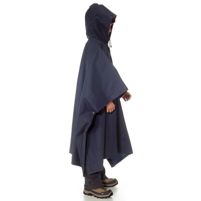 Regenponcho voor trekking kinderen Arpenaz 10 liter blauw