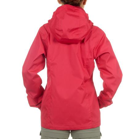 Wanderjacke Hike 500 Mädchen rosa