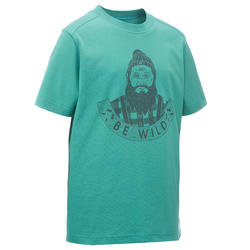 Jongens T-shirt voor wandelen Hike 500