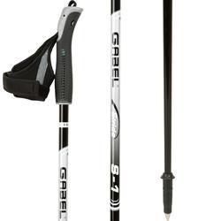 Nordic walking stokken S-1 zwart/grijs