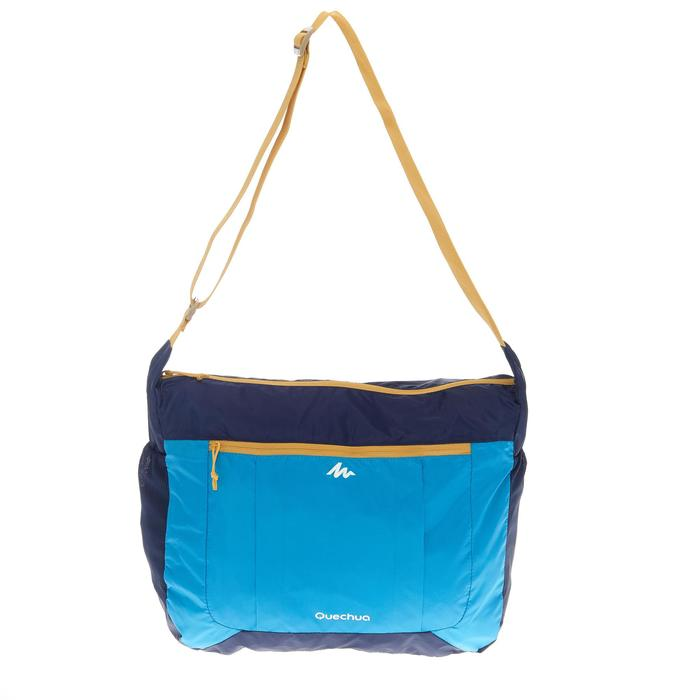 Compacte schoudertas voor trekking blauw