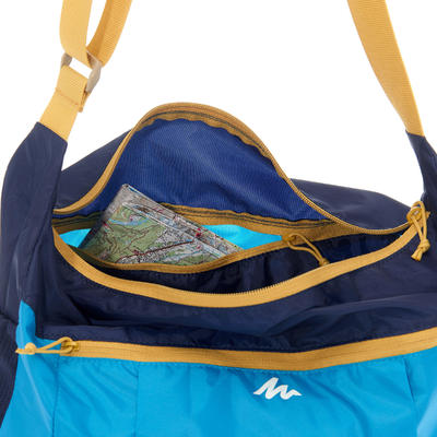 Bolso para terciar excursionismo ultracompacto azul