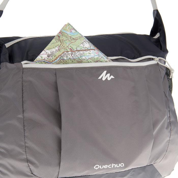 Compacte schoudertas voor trekking grijs