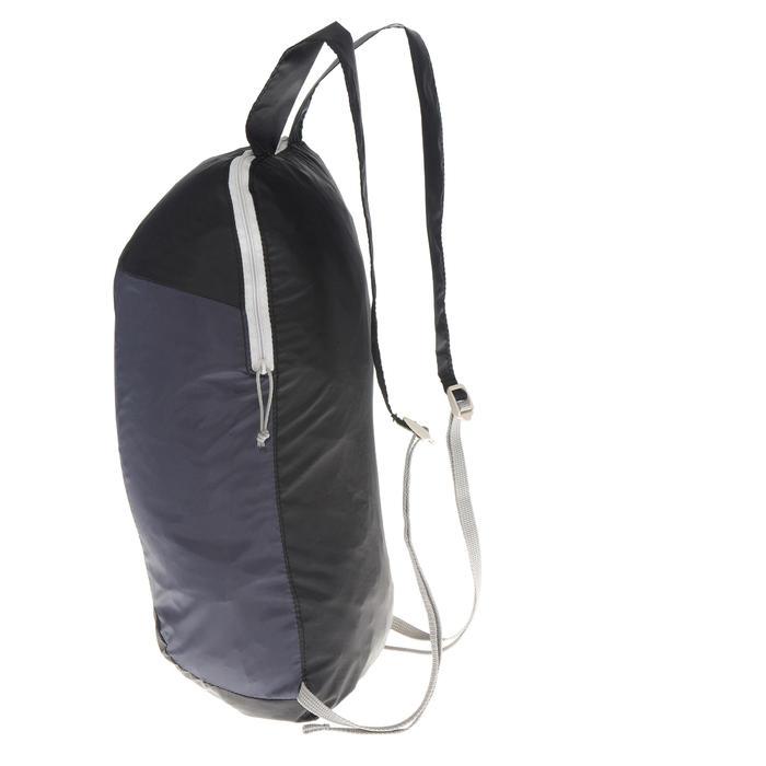 Rucksack ultrakompakt 10 Liter schwarz