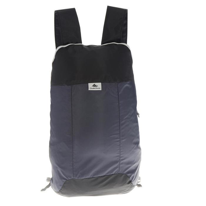 Rucksack Travel ultrakompakt 10 Liter schwarz