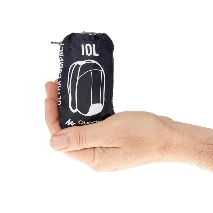 Sac à dos d'appoint ultra compact 10 litres noir