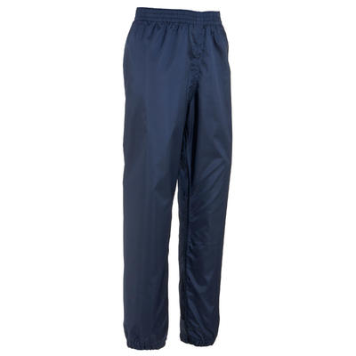 Kids Waterproof Hiking Over Trousers - MH100 - Navy Blue