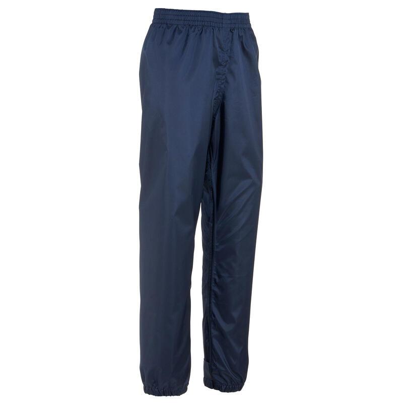 Surpantalon imperméable de randonnée - MH100 bleu marine - enfant 7-15 ans