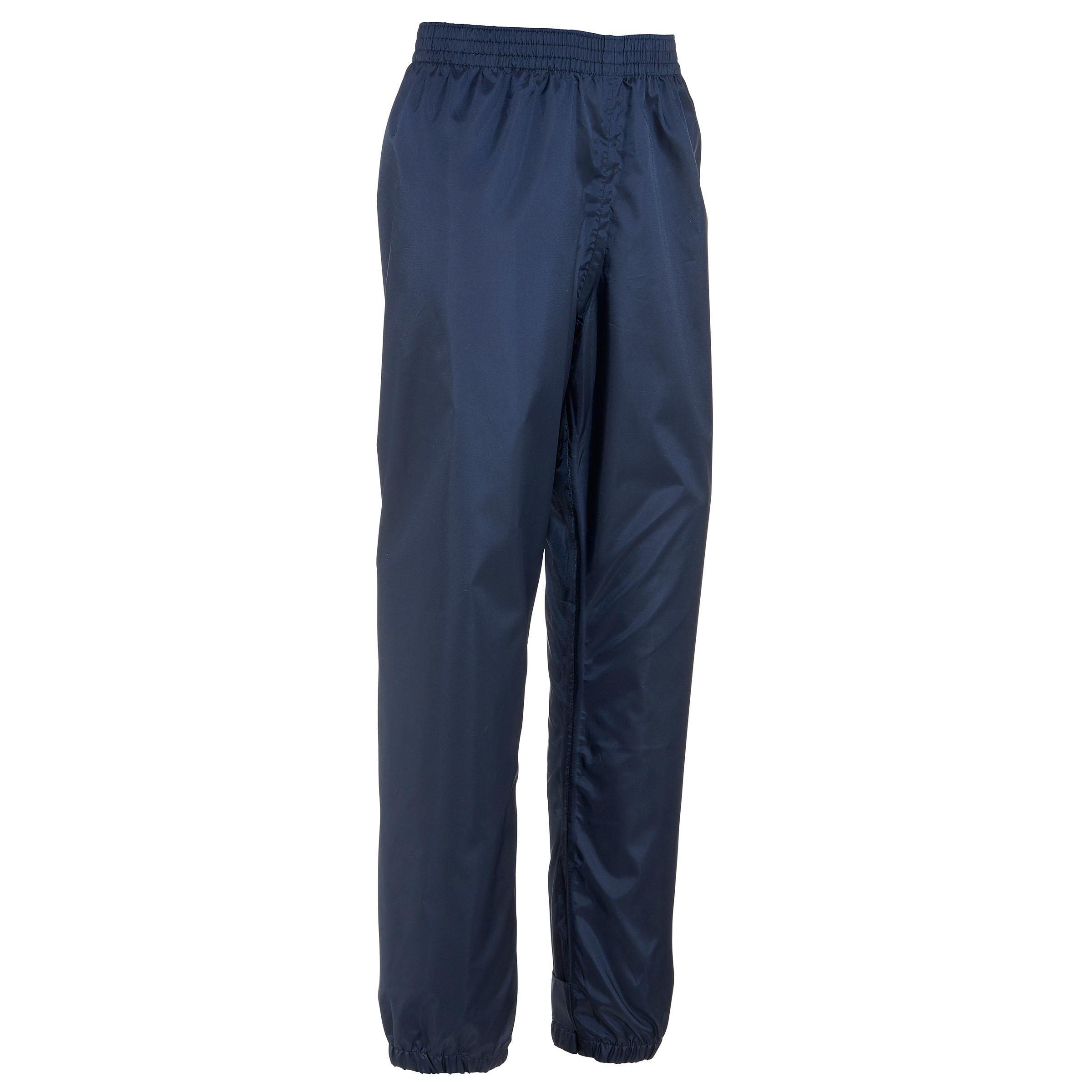 Sur pantalon imperméable de randonnée enfant mh100 bleu marine 2 au 6 ans quechua