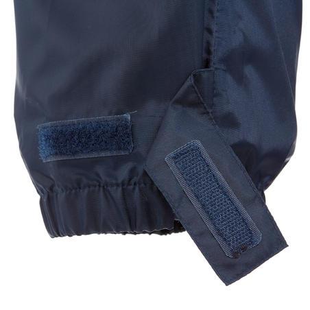 Sur-pantalon imperméable de randonnée - MH100 bleu marine - Enfants