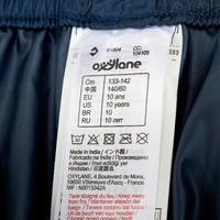 Surpantalon imperméable de randonnée enfant MH100 bleu marine 7 au 15 ANS