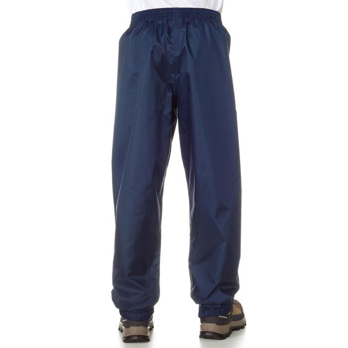 Sur-pantalon imperméable de randonnée - MH100 bleu marine - enfant 7-15 ans