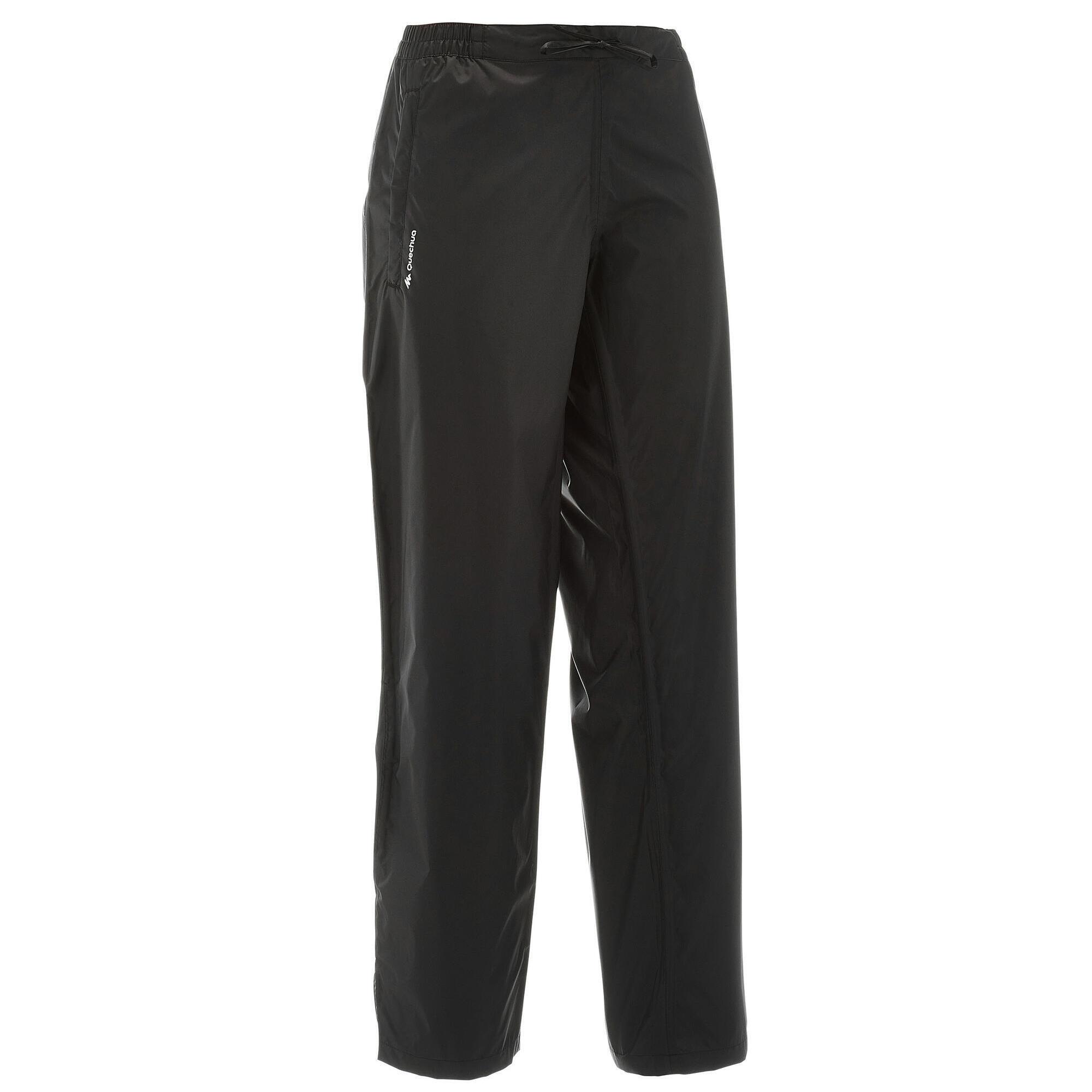 Regenhose NH 500 Protect Damen schwarz für Naturwanderungen | Sportbekleidung > Sporthosen > Regenhosen | Schwarz | Quechua