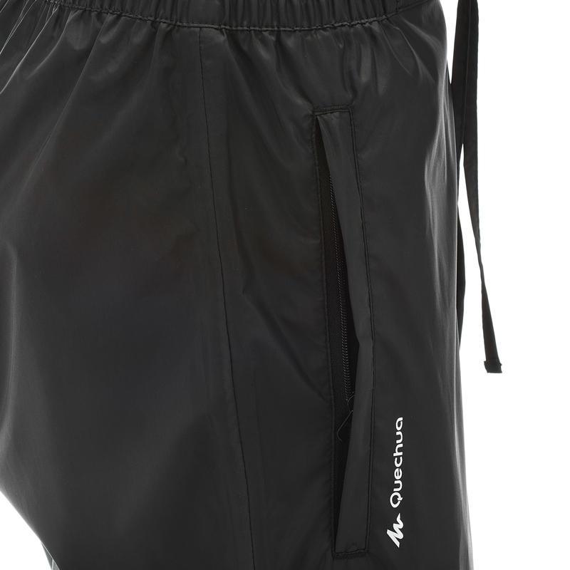 Women's Rain Pants Hiking OverTrouser - Black