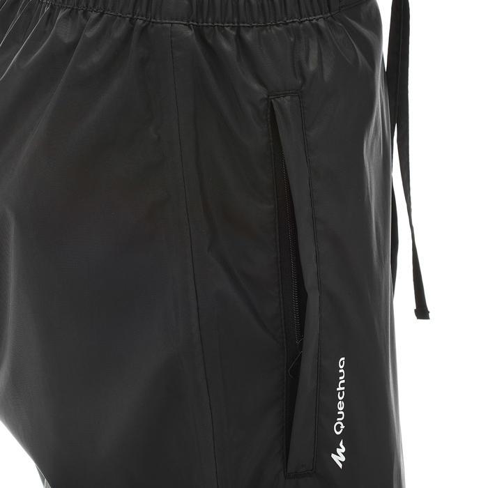 女款鄉村健行防水雨褲Protect NH500-黑色
