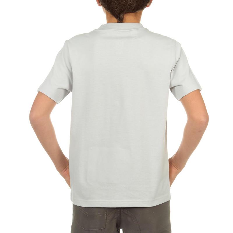 Hike 500 Boy's Hiking T-Shirt Grey