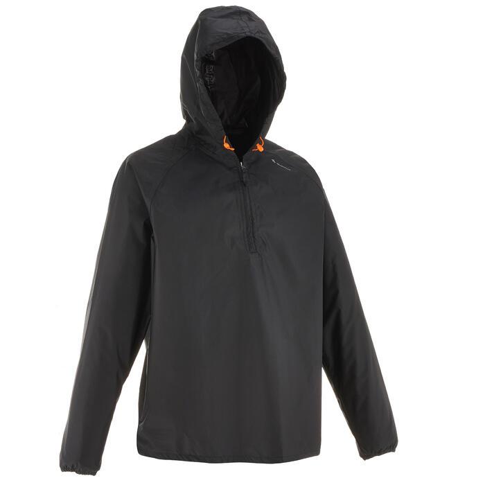 Regenjas voor wandelen heren NH100 Raincut halve rits