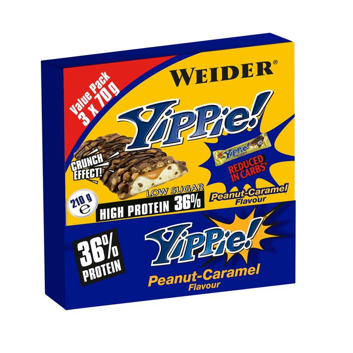 Barre protéinée YIPPIE caramel cacahuète 3x70gr