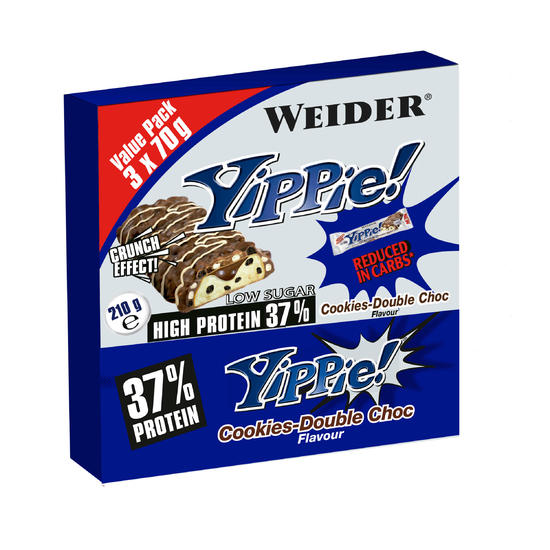 Eiwitreep Yippie Cookies 3 x 70 g - 713082