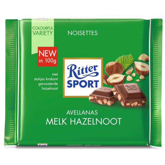 Melkchocolade/hazelnoot voor sporters 100 g - 713099