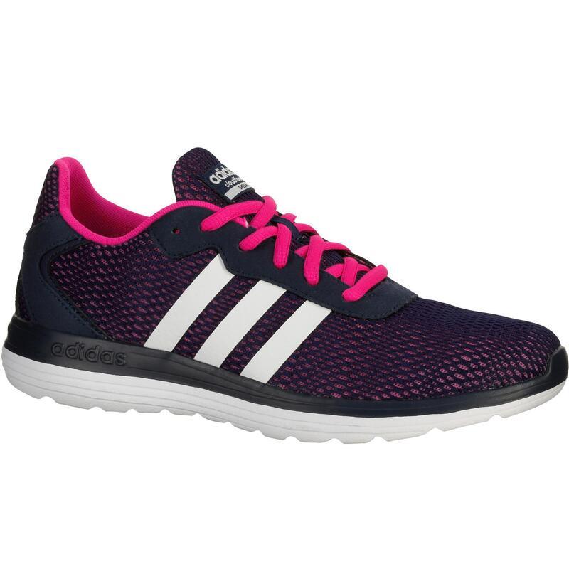 Damessneakers Cloudfoam Speed marineblauw/roze