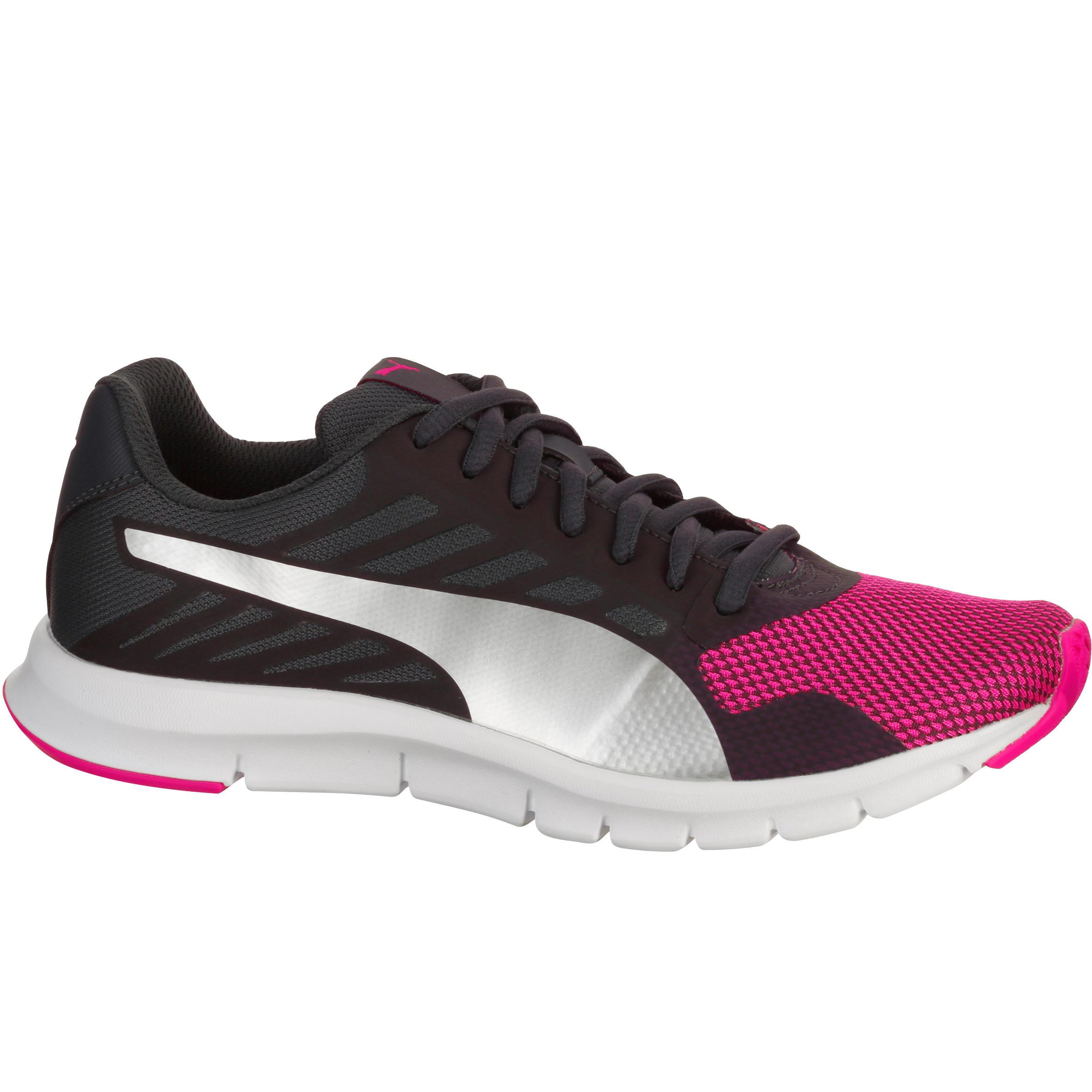 Damessneakers St Trainer zwart/roze