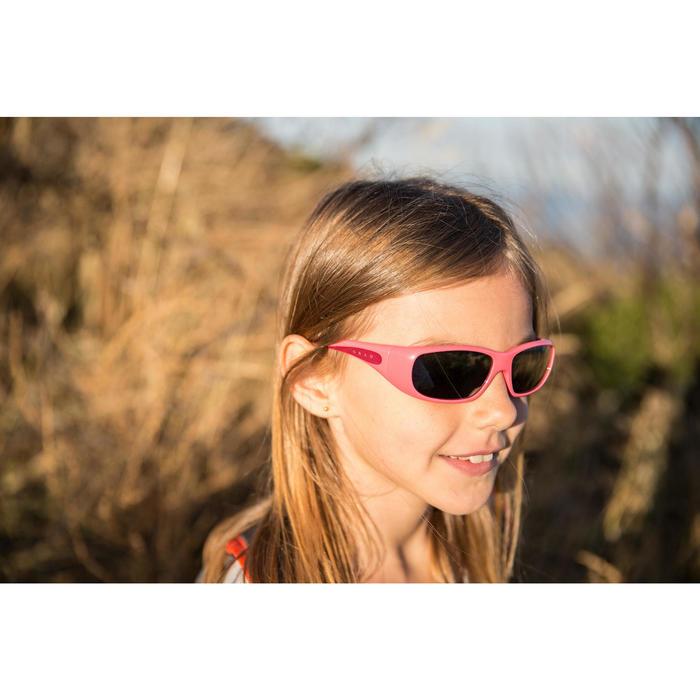 Lunettes de soleil de randonnée enfant 7-9 ans TEEN 300 noires catégorie 4 - 713689