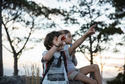 Monoculair M300 voor wandelen, voor kinderen, 8x vergroting, fixed focus - 713692