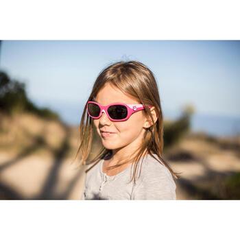 Lunettes de soleil randonnée enfant 3-6 ans KID 500 roses catégorie 4 - 713710