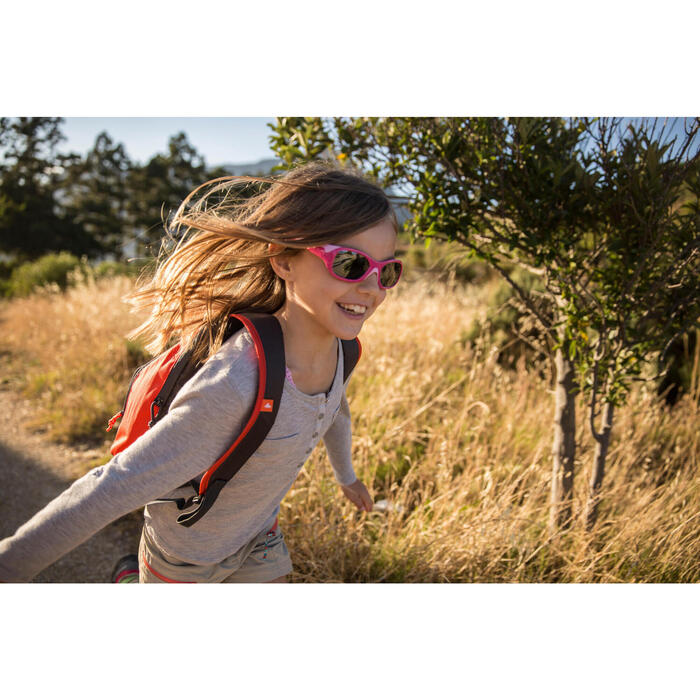 Lunettes de soleil randonnée enfant 3-6 ans KID 500 roses catégorie 4 - 713716
